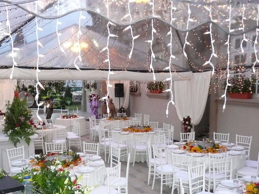 Transparent Tent with Fairy Light